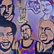 Lakers Love Jerry Buss 1 Art Print by Tony B Conscious
