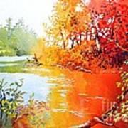 Lakescene 1 Art Print