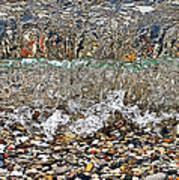 Lakeshore Rocks 4 Art Print
