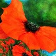 Lakeside Bloom Art Print