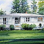 Lakeside Cottage Art Print