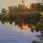 Lakeside Evening Art Print