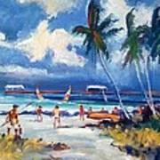 Lakeworth Beach Sketch Art Print