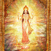 Lakshmi The Goddess Of Fortune And Abundance Art Print by Ananda Vdovic