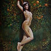 Lala Entre Las Naranjas Art Print