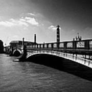 lambeth bridge over the river thames central London England UK Art Print
