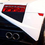 Lamborghini Gallardo Tail Light Pipes Art Print