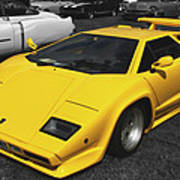 Lamborghini Countach Art Print