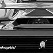 Lamborghini Rear View Emblem Print by Jill Reger