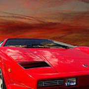 Lamborghini Starting Dream Art Print