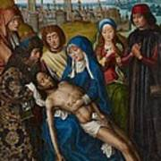 Lamentation With Saint John The Baptist And Saint Catherine Of Alexandria Art Print