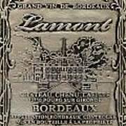 Lamont Grand Vin De Bordeaux  Art Print