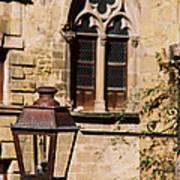 Lamp In Sarlat Art Print