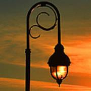 Lamp Post Glow Art Print
