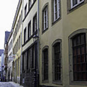 Lamp Post In Cologne Germany Alley Art Print