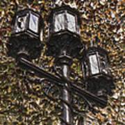 Lamp Post In The Fall Art Print