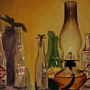 Lamp With Pop Bottles Art Print