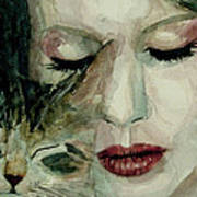 Lana Del Rey And A Friend  Art Print by Paul Lovering