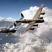 Lancaster And Spitfire  Art Print