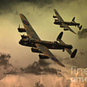 Lancaster Fire In The Sky Art Print