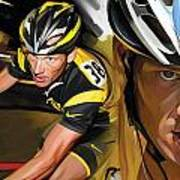 Lance Armstrong Artwork Art Print