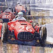 Lancia D50 Monaco Gp 1955 Art Print