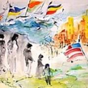 Land Of Plenty Art Print by Mary Spyridon Thompson