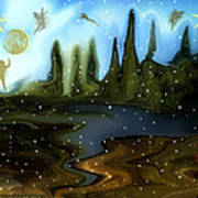 Land Of The Fairies  For Kids Art Print