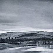 Land Shapes 11 Art Print