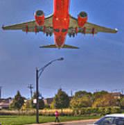 Landing At Midway Art Print