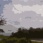 Landing Beyond The Trees Art Print