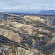 Landmannalaugar Iceland Panorama 2 Art Print