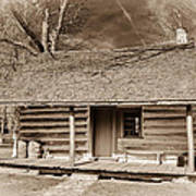 Landow Log Cabin 7d01723b Art Print
