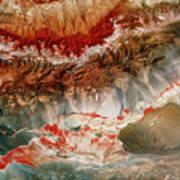 Landsat Pic Of Turfan Depression In Weste Art Print