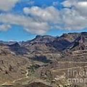 Landscape Amazing Canarian Colors Mountains Art Print
