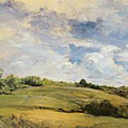 Landscape And Clouds  Art Print