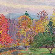 Landscape At Hancock In New Hampshire Art Print