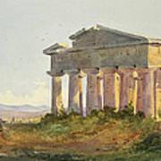 Landscape At Paestum Art Print