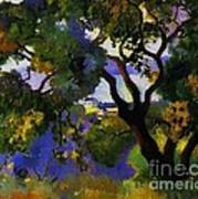 Landscape At St Tropez  2 Art Print