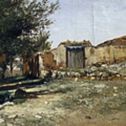 Landscape In Aragon Art Print