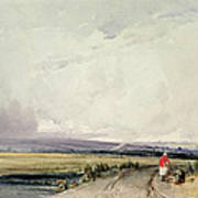 Landscape In Normandy, Traditionally Art Print