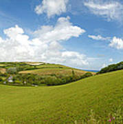 Landscape Near Hallsands In Devon Gb Art Print