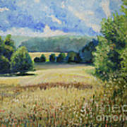 Landscape Near Russian Border Art Print