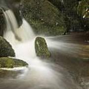 Landscape Of Becky Falls Waterfall In Dartmoor National Park Eng Art Print by Matthew Gibson