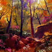 Landscape Painting Of Beautiful Autumn Art Print