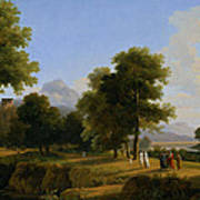 Landscape. Site Of Greece Art Print