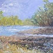 Landscape Whit River Art Print