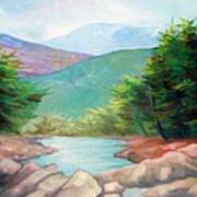 Landscape With A Creek Art Print