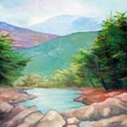 Landscape With A Creek Art Print