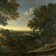 Landscape With Abraham And Isaac Art Print